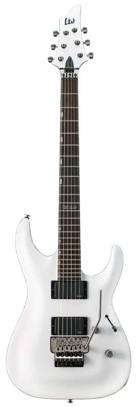 LH-351FRSW: LTD H-351 FR WHITE FLOYD ROSE BRIDGE