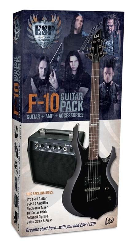 LTD F-10BK GUITAR & AMP PACK