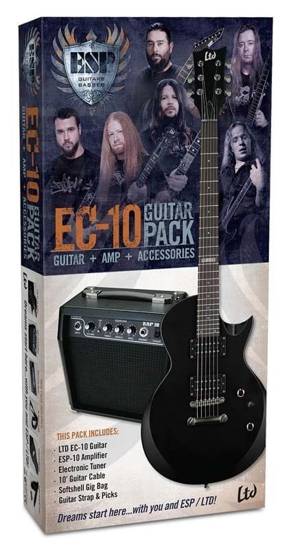 LTD EC-10 BK GUITAR & AMP PACK