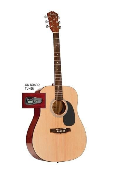 DREADNOUGHT SIZE GTR NATURAL W/ ON BOARD TUNER