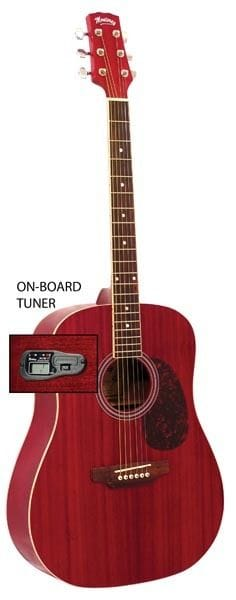 DREADNOUGHT ACOUSTIC GTR TRANS WINERED