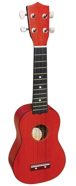 SOPRANO UKULELE IN RED FINISH