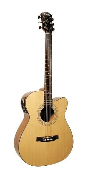 FOLK SIZE ACC/ELEC GUITAR WITH CUTAWAY & MEQ-T4