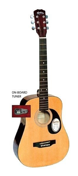 3/4 SIZE DREADNOUGHT ACOUSTIC GTR+ OB/TUNER