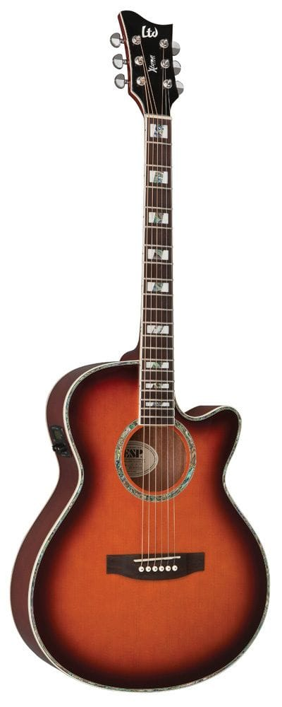 LTD X-TONE ACOUSTIC GUITAR SUNBURST