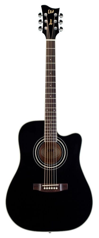 LTD X-TONE DREADNOUGHT AC/ELEC - BLACK