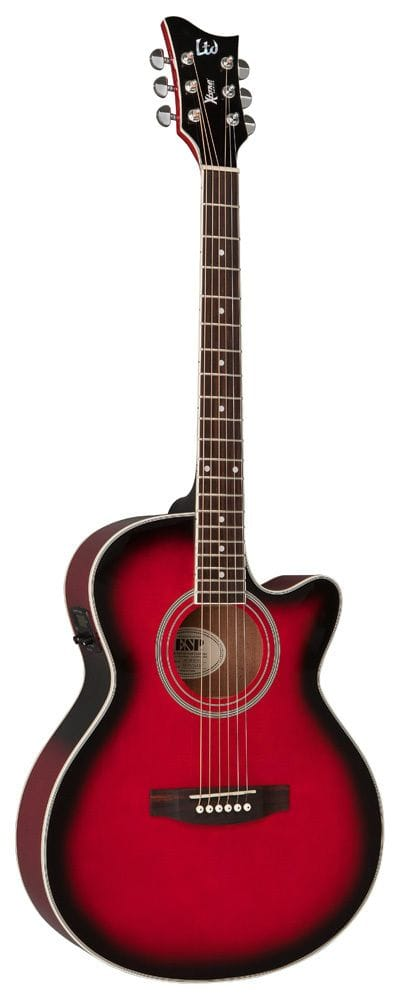LTD X-TONE AC/ELEC GUITAR - SEE THRU RED SUNBURST