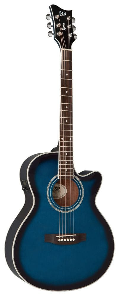 LTD X-TONE AC/ELEC GUITAR - SEE THRU BLUE SUNBURST