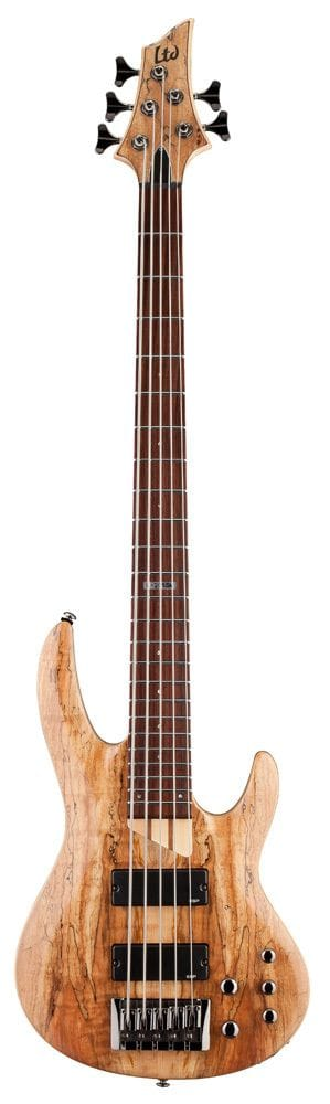 LB-205SMNS: LTD B-205 SPALTED MAPLE 5 STRING BASS