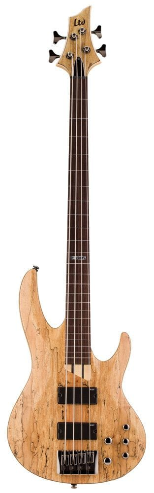LB-204SMFLNS: LTD B-204 SPALTED MAPLE 4 STR FRETLESS