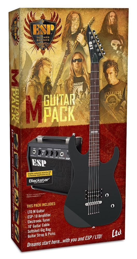 LM-10BKPAK: LTD M-10 BK PAK GTR & AMP BEGINNER PACK