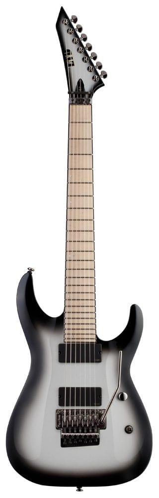LBUZ-7SSB: LTD BUZ MCGRATH SIGNATURE 7 STRING SILVERBURST