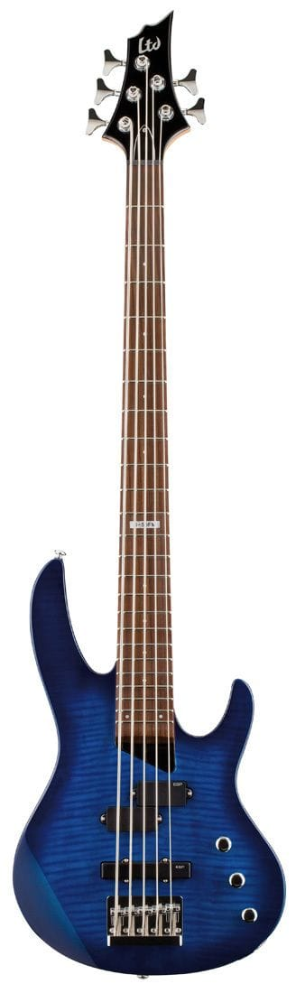 LTD B-55FM 5 STR BASS SEE THRU BLUE SUNBURST