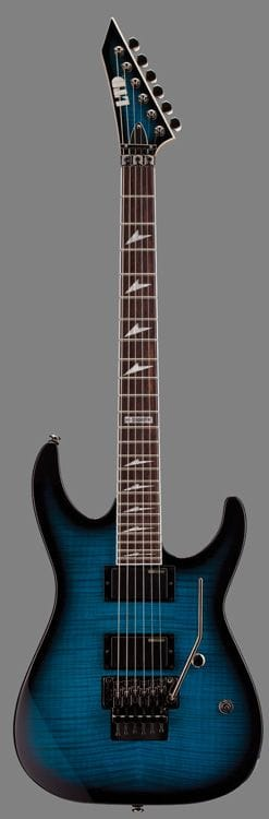 LTD M-330FM R FLAME TOP SEE THRU BLUE SUNBURST