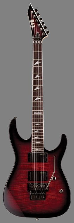 LTD M-330FM R FLAME TOP BLACK CHERRY SUNBURST