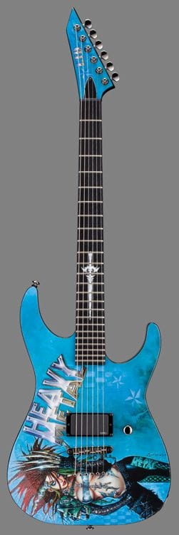 L-HEAVYMETAL: LTD MONSTER SERIES HEAVY METAL GRAPHIC GUITAR