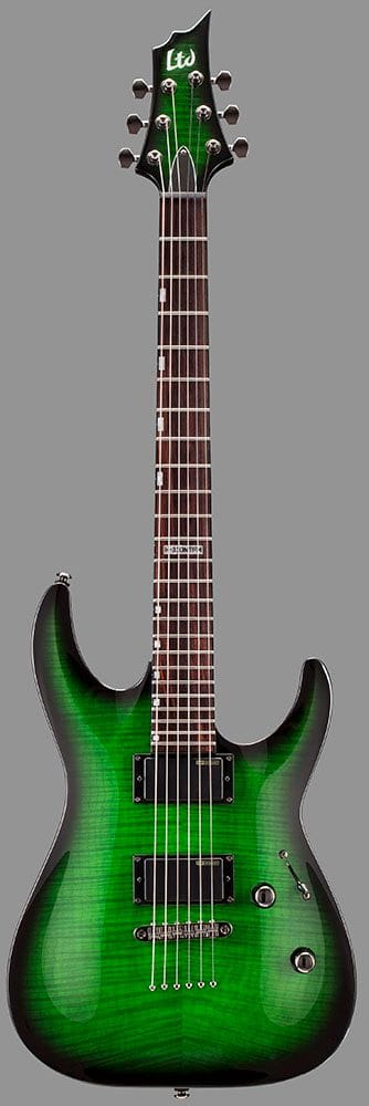 LH-330FMNTSTGSB: LTD H-330FM NT FLAME TOP SEE THRU GREEN BURST