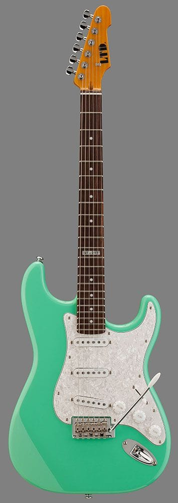 LST-213RSFG: LTD ST-213 ROSEWOOD NECK SEA FOAM GREEN