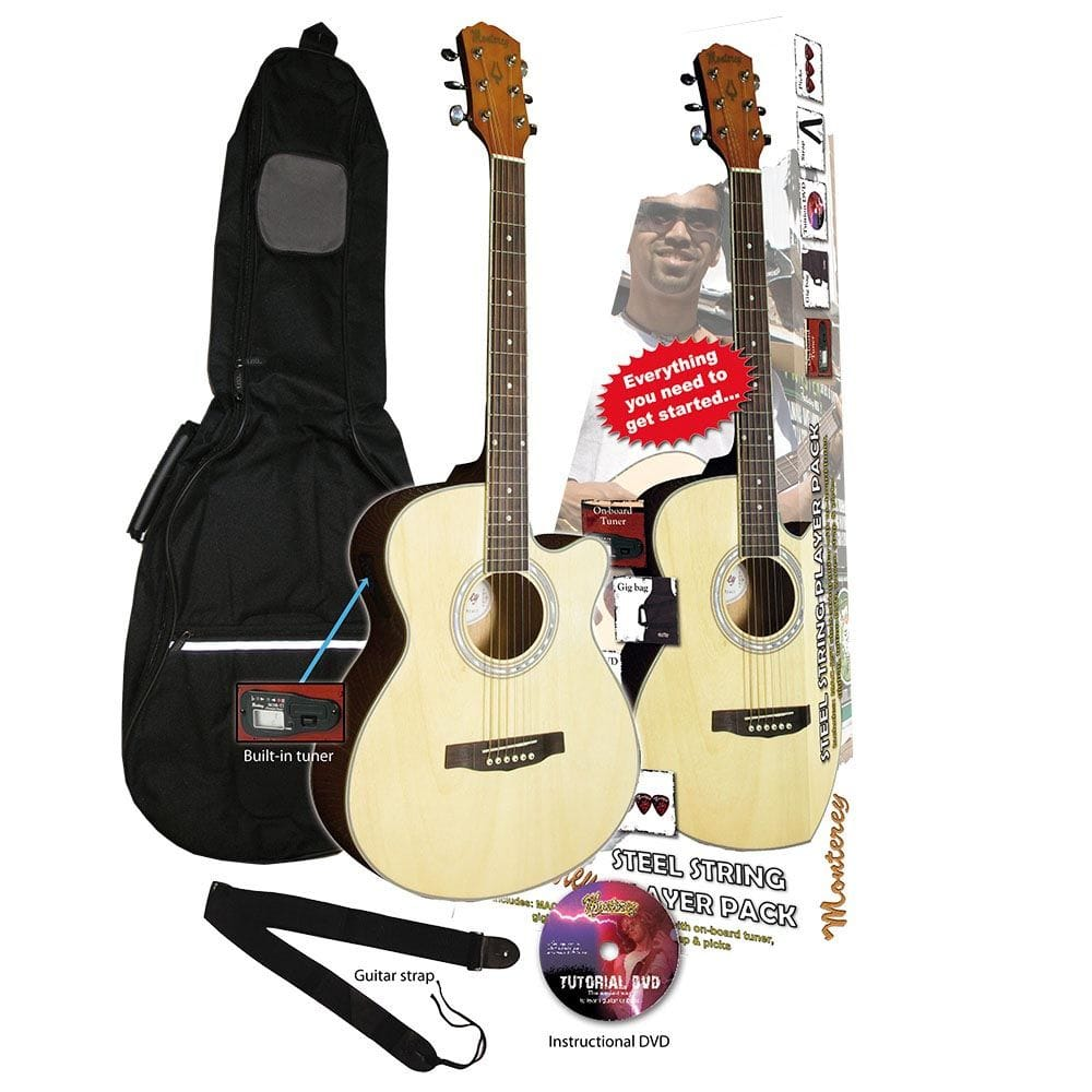 SLIM LINE ACOUSTIC PACK - NATURAL W- CUTAWAY
