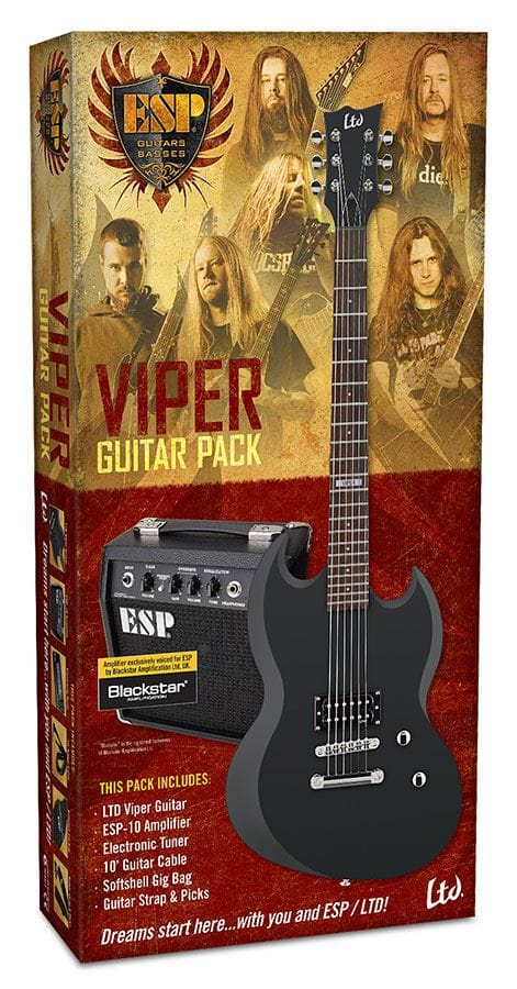 LVP-10BKPAK: LTD VIPER GUITAR & AMP BEGINNER PACK