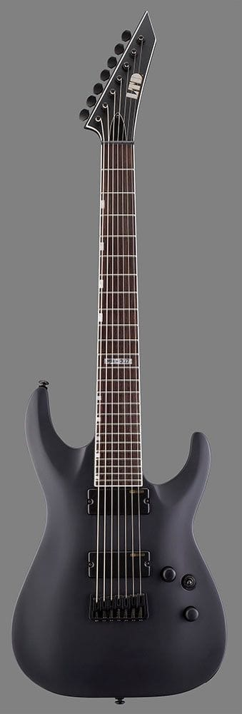 LMH-337BLKS: LTD MH-337 7 STRING BLACK SATIN ELECTRIC GUITAR