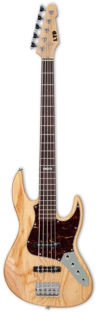 LJ-205ANAT: LTD J-SERIES 5 STRING BASS GUITAR ASH NATURAL