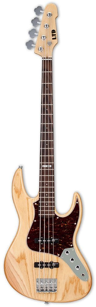 LJ-204ANAT: LTD J-SERIES ELEC BASS GUITAR ASH NATURAL