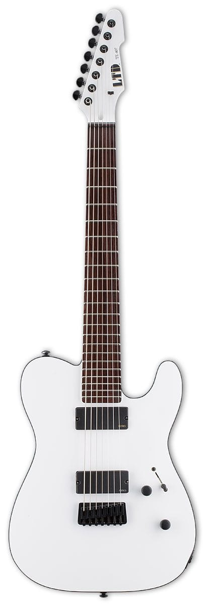 LTE-407SWS: LTD TE-407 7 STRING TELE SNOW WHITE SATIN