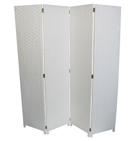 White 4 Fold Room Divider 160cm wide
