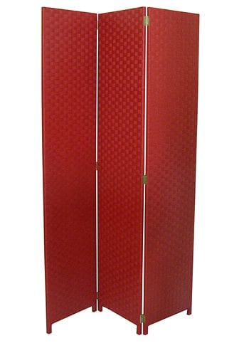Large Red 3 Fold Room Divider 120cm wide