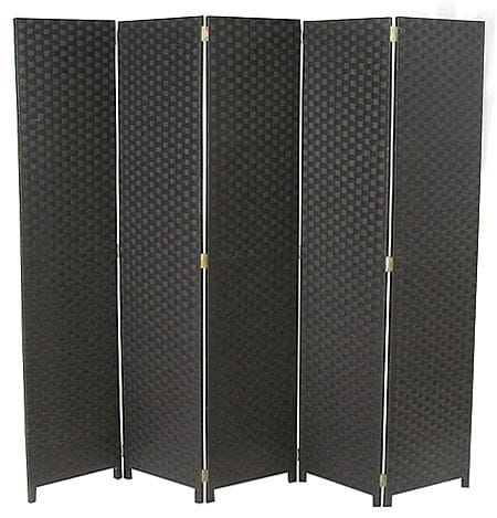 Charcoal 5 Fold Room Divider 200cm wide