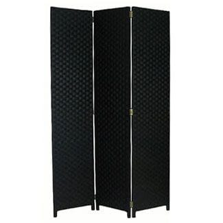 Large Black 3 Fold Room Divider 120cm wide