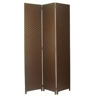 XLarge Brown 3 Fold Room Divider 132cm wide