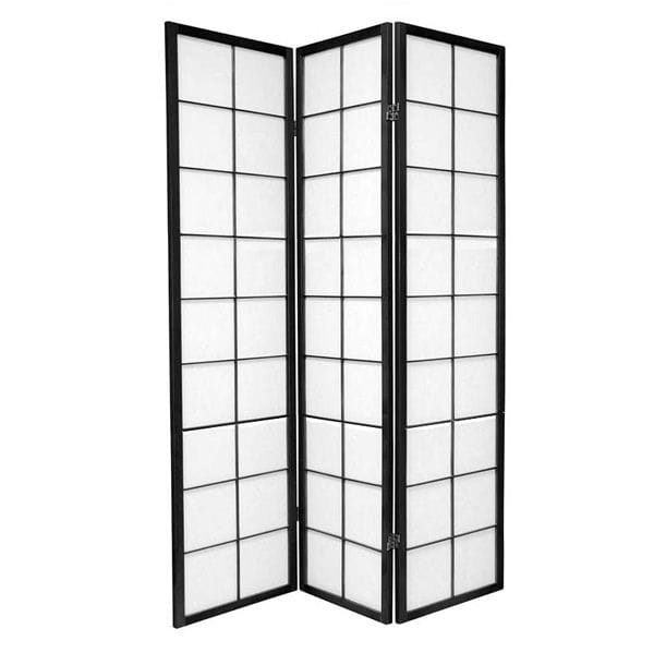 Black Zen 3 Fold Room Divider 132cm wide