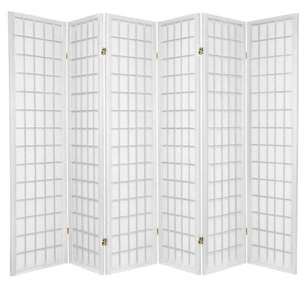 White Window 6 Fold Room Divider 264cm wide