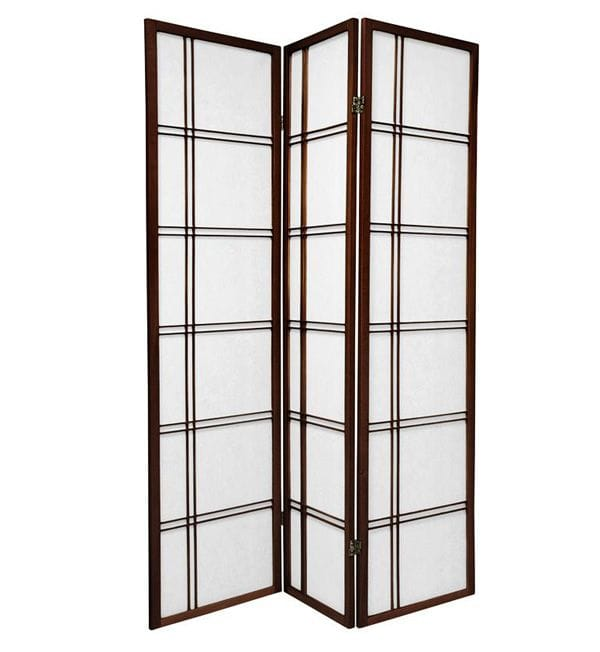 Brown Cross 3 Fold Room Divider 132cm wide