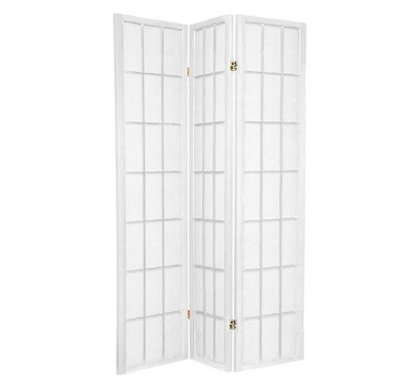 White Shoji 3 Fold Room Divider 132cm wide
