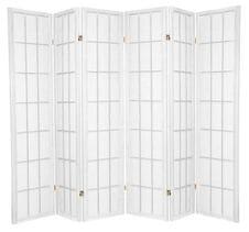 White Shoji 6 Fold Room Divider 264cm wide