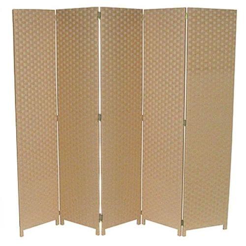 Beige 5 Fold Room Divider 200cm wide