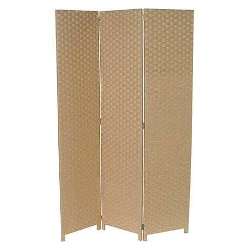 Large Beige 3 Fold Room Divider 120cm wide