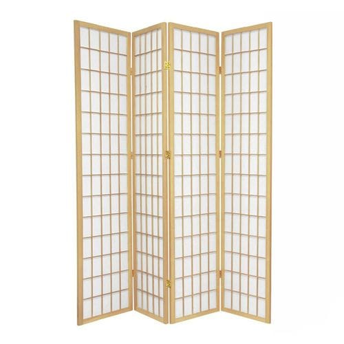 Natural Window 4 Fold Room Divider 176cm wide