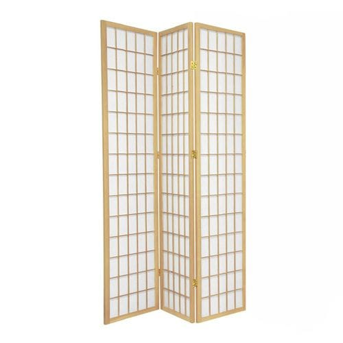 Natural Window 3 Fold Room Divider 132cm wide