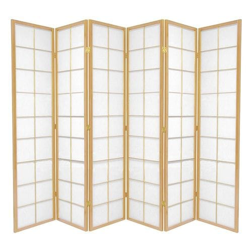 Natural Zen 6 Fold Room Divider 264cm wide