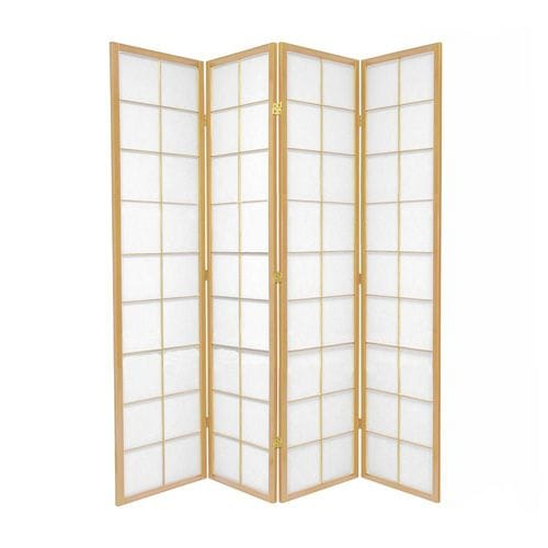 Natural Zen 4 Fold Room Divider 176cm wide