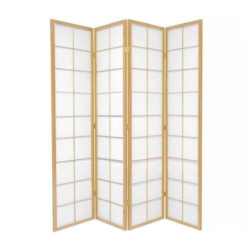 Natural Zen 4 Fold Room Divider 176cm wide