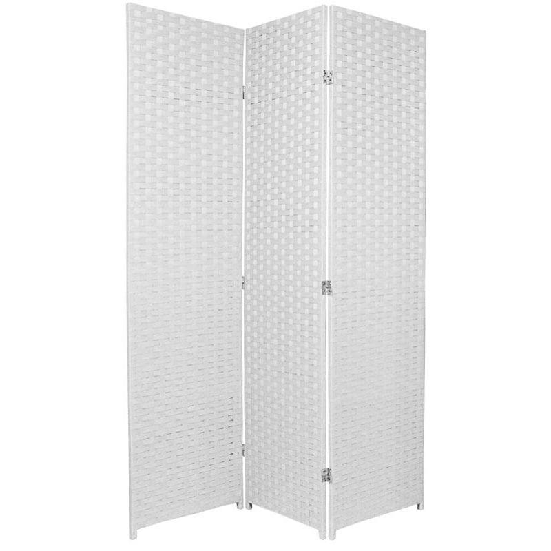 White 3 Fold Room Divider 120cm wide