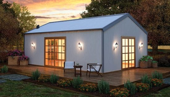 Looking for a liveable shed for Live in garage kits