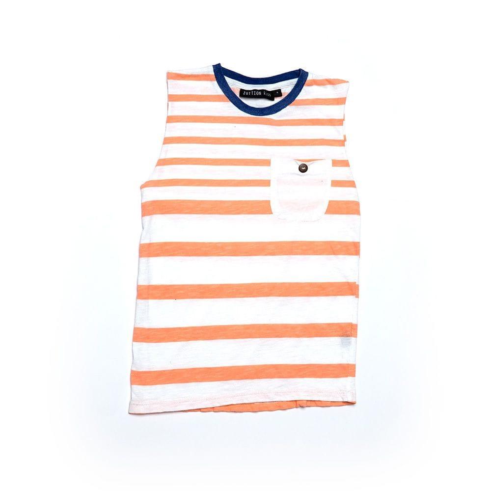 Zuttion - Stripe 1 & 2 Tank Top - Peach