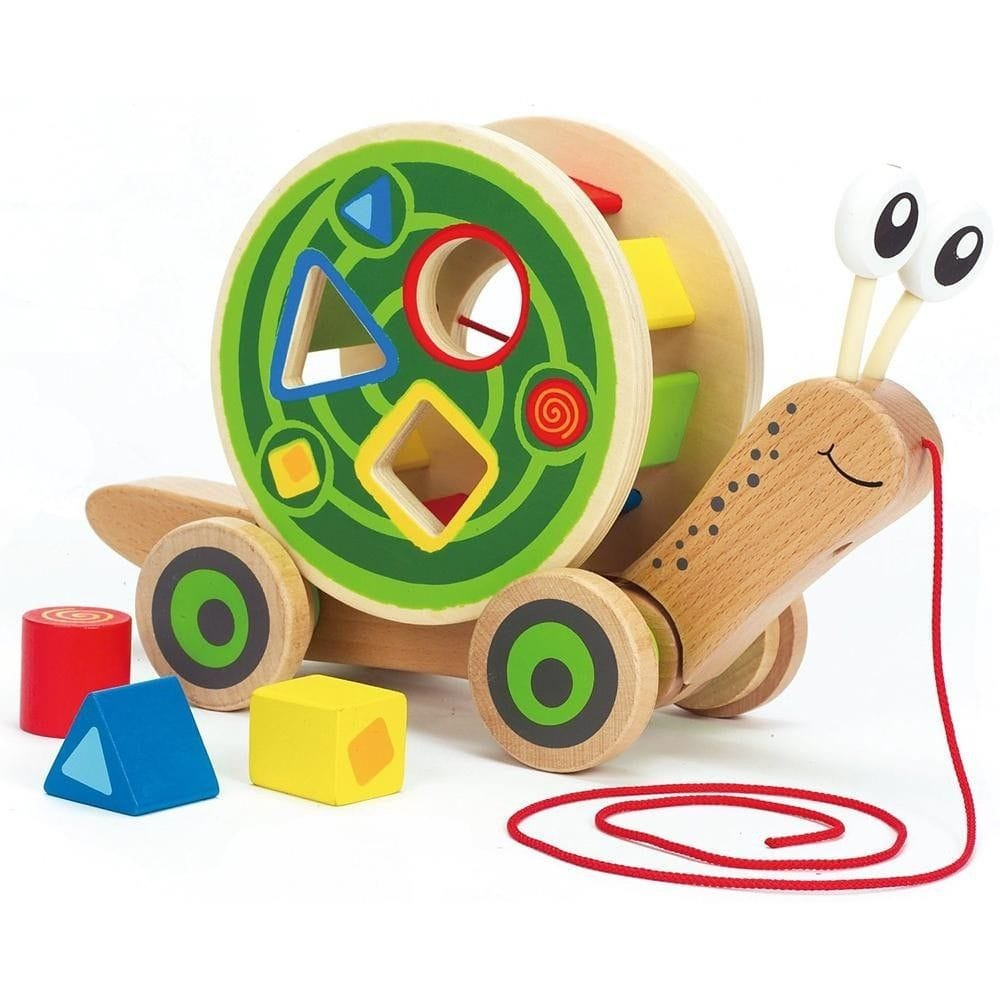 Hape - Snail Pull and Play Shape Sorter
