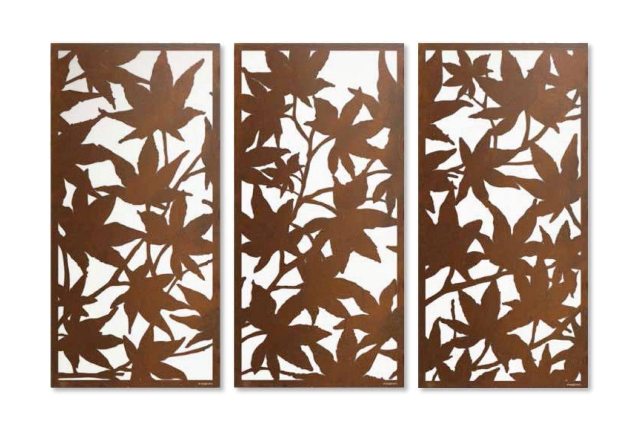 Maple Leaf Screen Triptych